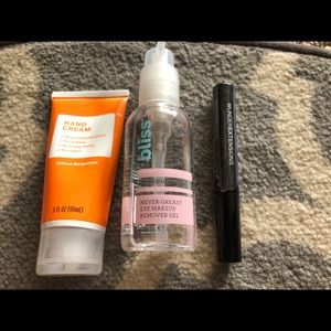 Makeup - Mascara, hand cream, eye makeup remover